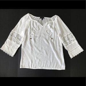 Alyx white Lace Top Blouse Shirt size M
